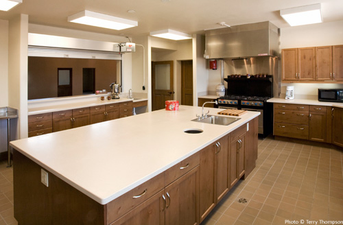 New commercial grade kitchen in expanded parish hall