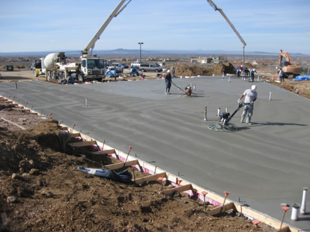 Mother Nature cooperated and allowed slab completion in early November